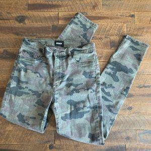 HUDSON camo skinny jeans